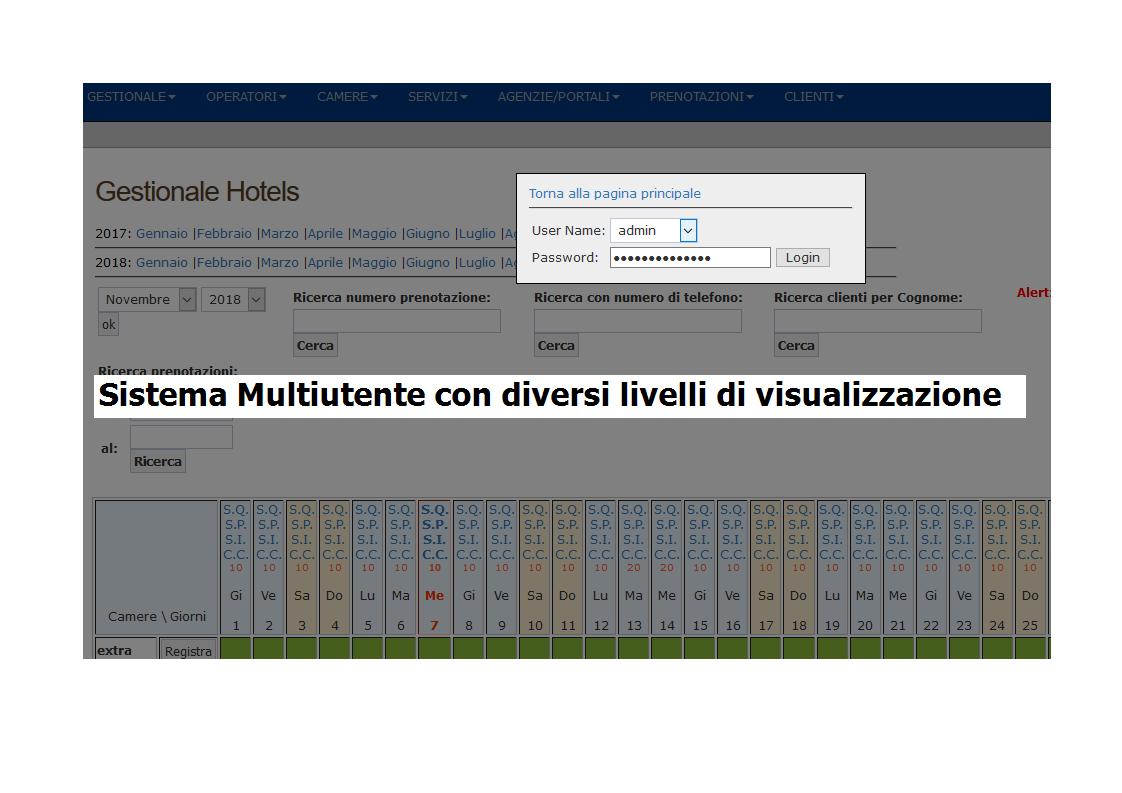 Calendario Prenotazioni Alberghiere.Planning Prenotazioni Hotel Software Gestionale Per