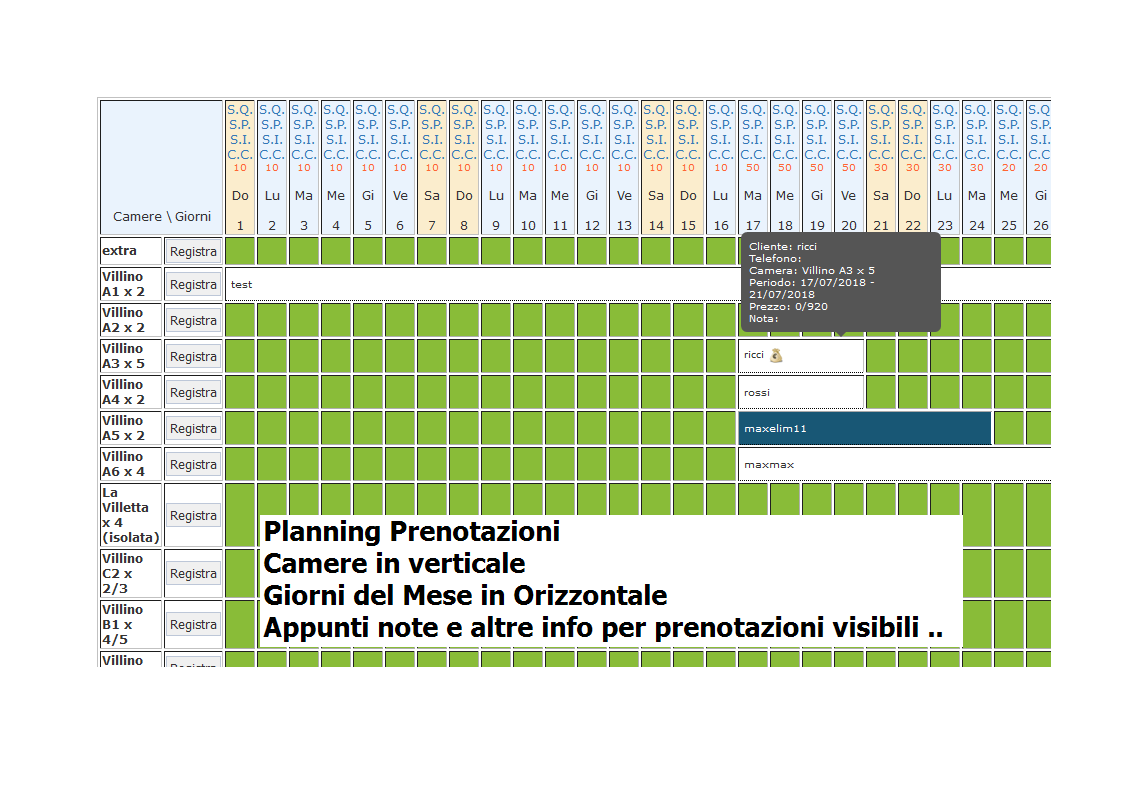 Istat Calendario.Istat Mensile Gestionale Hotel Software Gestionale Per